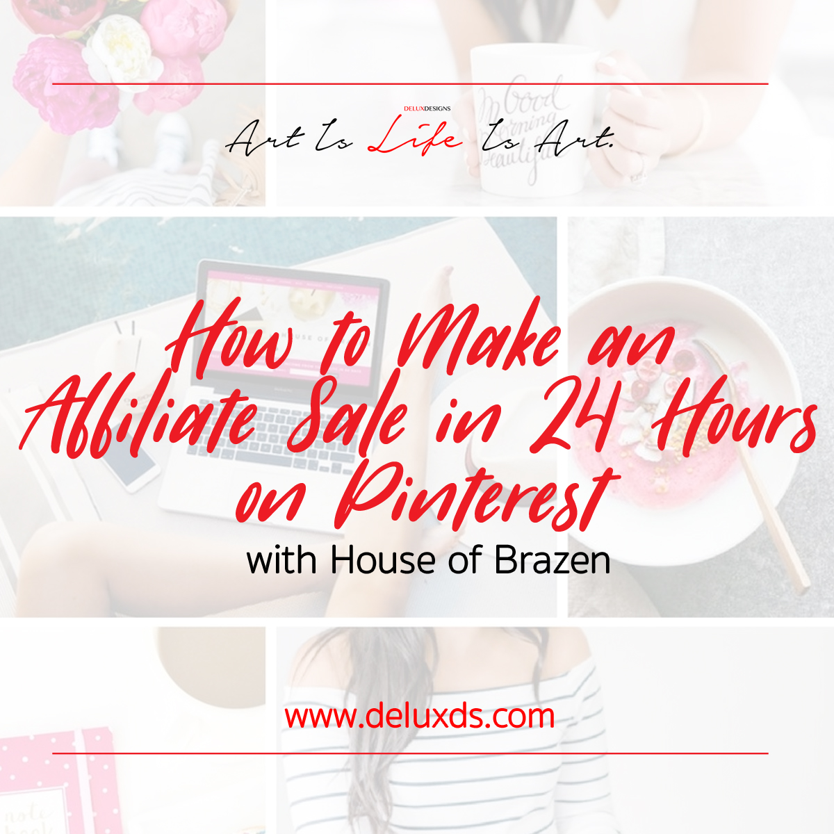 How to Make an Affiliate Sale in 24 Hours on Pinterest with House of Brazen